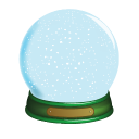 Christmas Snow Globe Emoticon