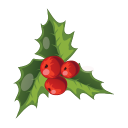 Christmas Mistletoe Emoticon
