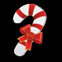 Christmas Candy Cane Emoticon