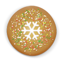 Christmas Cookie Round Emoticon