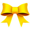 Ribbon Yellow Pattern Emoticon