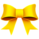Ribbon Yellow Emoticon