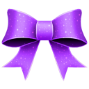 Ribbon Purple Pattern Emoticon