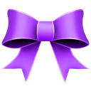 Ribbon Purple Emoticon