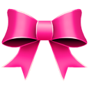 Ribbon Pink Emoticon