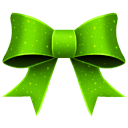 Ribbon Green Pattern Emoticon