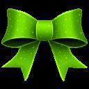 Ribbon Green Pattern Emoticon