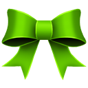Ribbon Green Emoticon
