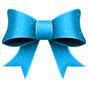 Ribbon Blue Pattern Emoticon