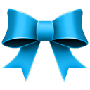 Ribbon Blue Emoticon