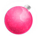 Christmas Ball Pink Emoticon