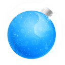 Christmas Ball Blue Emoticon
