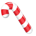Candy Cane Emoticon