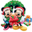 Mickey Mouse Christmas Emoticon