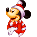 Mickey Christmas Emoticon