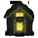 Snowy House Dark Emoticon