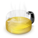 Glass Teapot Yellow Emoticon