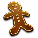 Gingerbread Man Emoticon