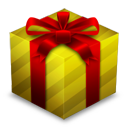 Gift Box Gold Emoticon