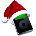 Ipod Black Santaclaus Emoticon