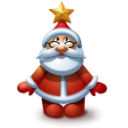 Santa 3 Emoticon