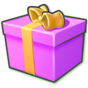 Giftbox Purple Emoticon