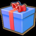 Giftbox Blue Emoticon