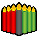 Kwanzaa Candles Emoticon
