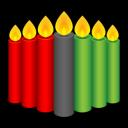 Kwanzaa Candles Emoticon