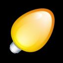 Christmas Light Orange Emoticon
