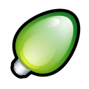 Christmas Light Green Emoticon