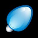Christmas Light Blue Emoticon