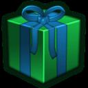 Present Green Emoticon