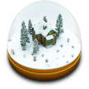 Xmas Snow Globe Emoticon