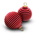 Xmas Ringed Balls Emoticon