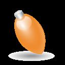 Xmas Light Orange Emoticon