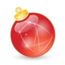 Xmas Ball Red Emoticon