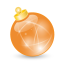 Xmas Ball Orange Emoticon
