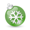 Xmas Ball Green Emoticon