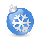 Xmas Ball Blue Emoticon