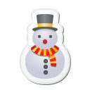 Xmas Sticker Snowman Emoticon
