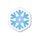 Xmas Sticker Snowflake Emoticon