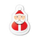 Xmas Sticker Santa Emoticon