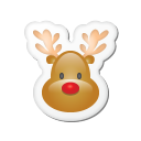 Xmas Sticker Reindeer Emoticon