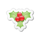 Xmas Sticker Mistletoe Emoticon