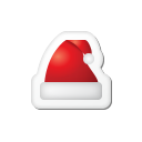 Xmas Sticker Hat Emoticon