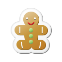 Xmas Sticker Gingerbread Emoticon