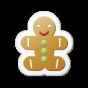 Xmas Sticker Gingerbread Emoticon