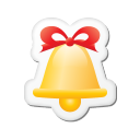 Xmas Sticker Bell Emoticon