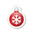 Xmas Sticker Ball Red Emoticon